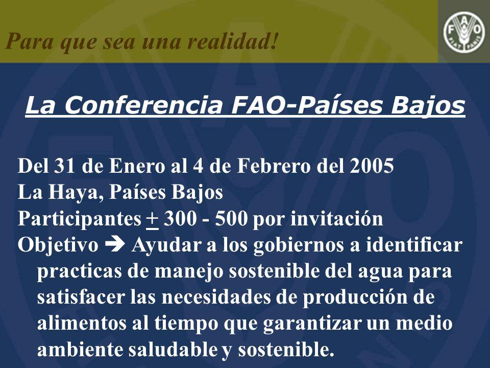 La Conferencia FAO-Países Bajos