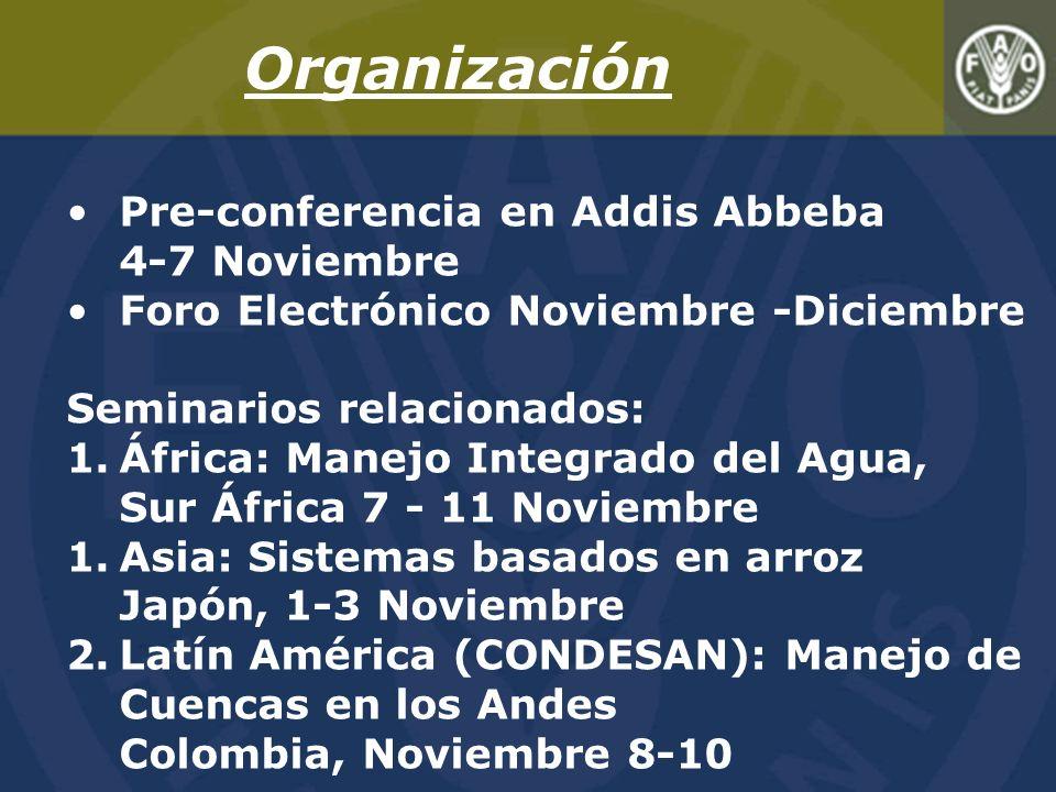 Organización Pre-conferencia en Addis Abbeba 4-7 Noviembre