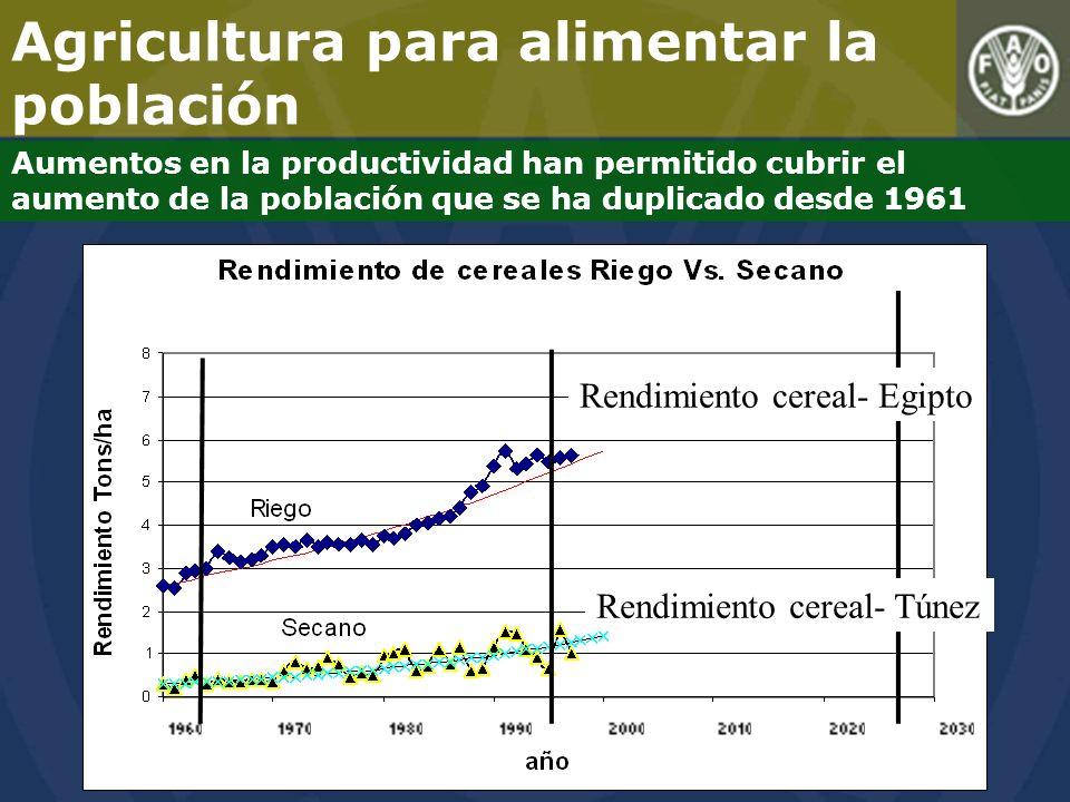 Agricultura para alimentar la población