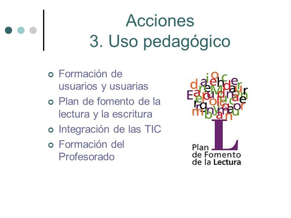 Acciones 3. Uso pedagógico