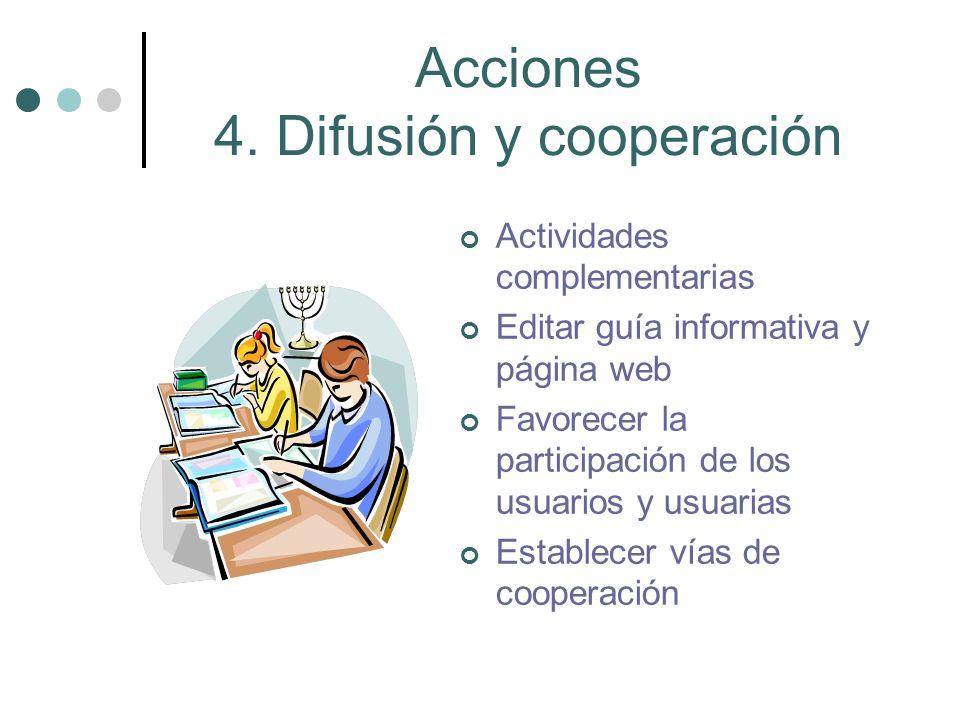 Acciones 4. Difusión y cooperación