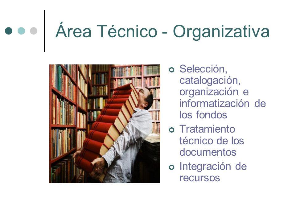 Área Técnico - Organizativa
