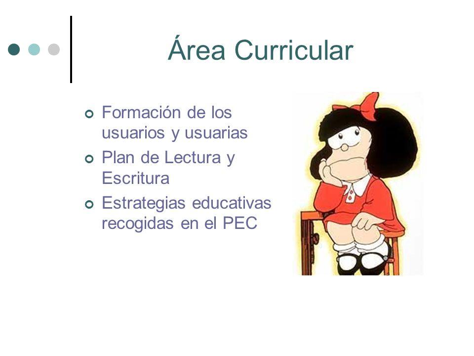 Área Curricular Formación de los usuarios y usuarias