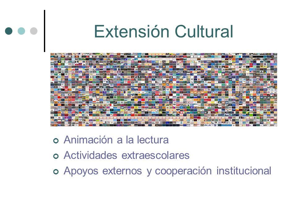 Extensión Cultural Animación a la lectura Actividades extraescolares