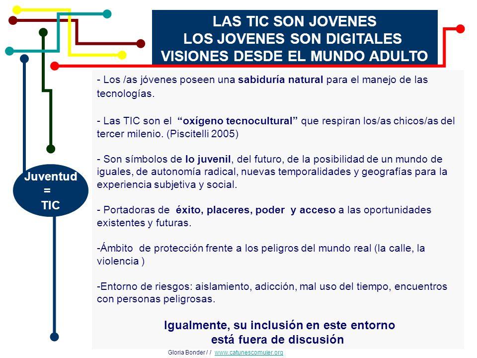 LOS JOVENES SON DIGITALES VISIONES DESDE EL MUNDO ADULTO