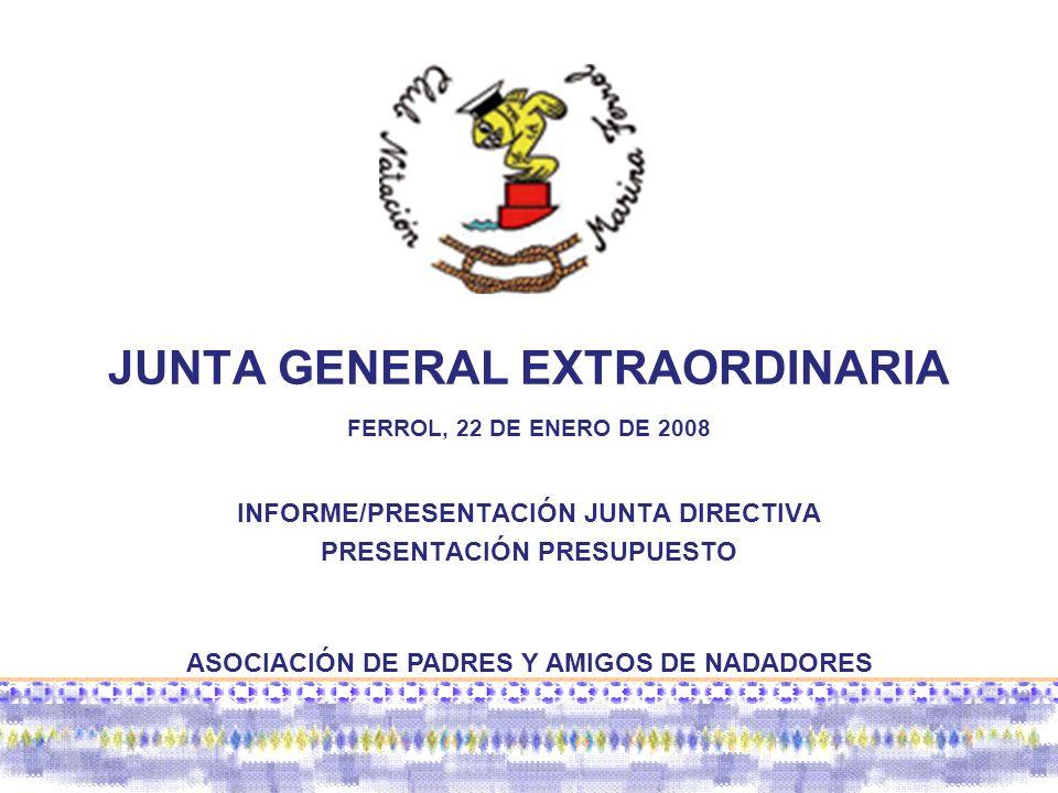 JUNTA GENERAL EXTRAORDINARIA FERROL, 22 DE ENERO DE 2008