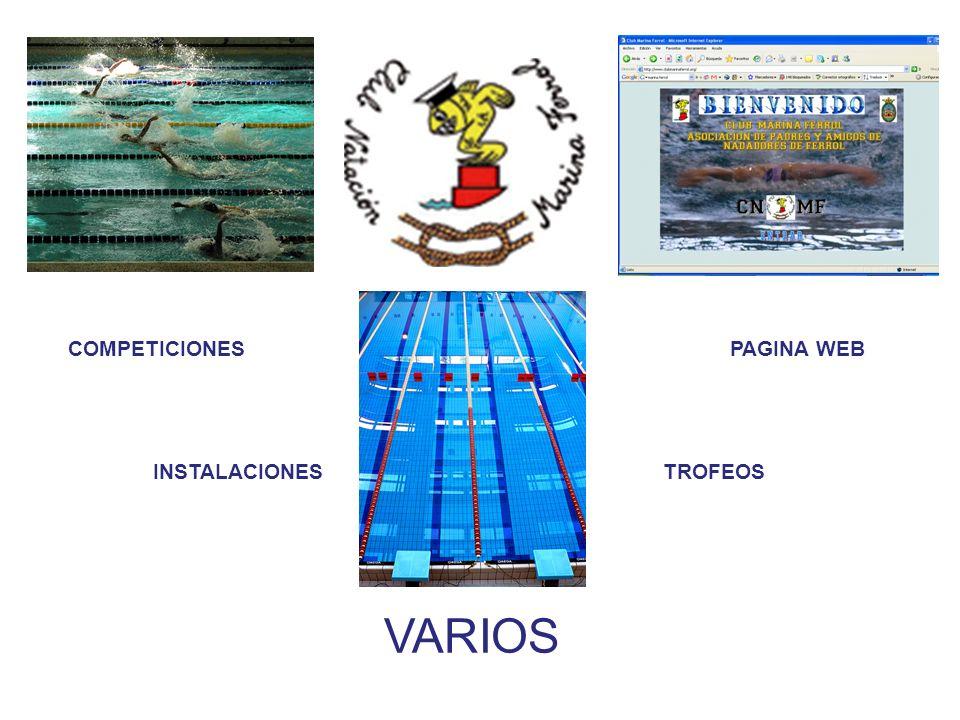 COMPETICIONES PAGINA WEB INSTALACIONES TROFEOS VARIOS
