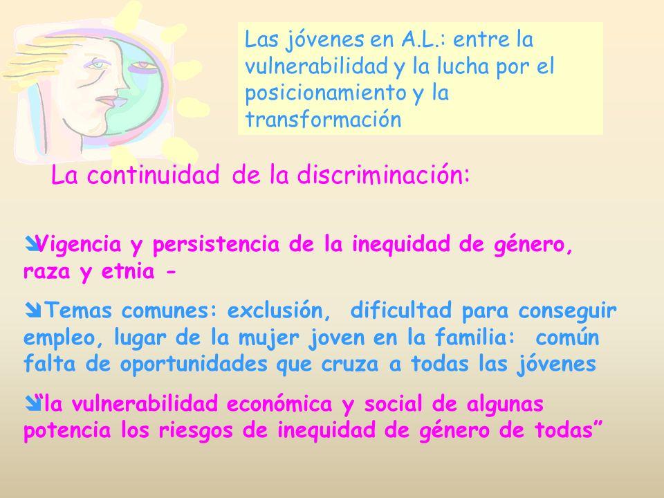 La continuidad de la discriminación: