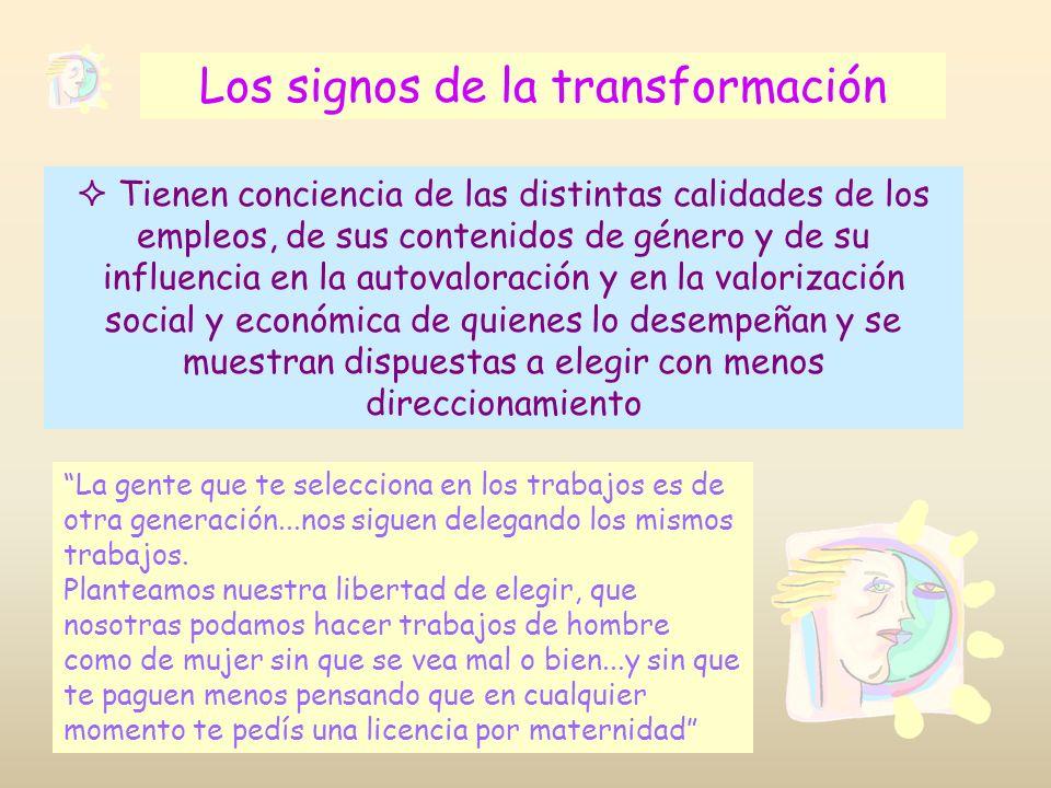 Los signos de la transformación
