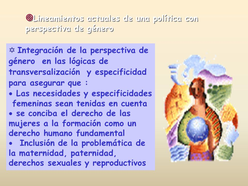 Lineamientos actuales de una política con perspectiva de género