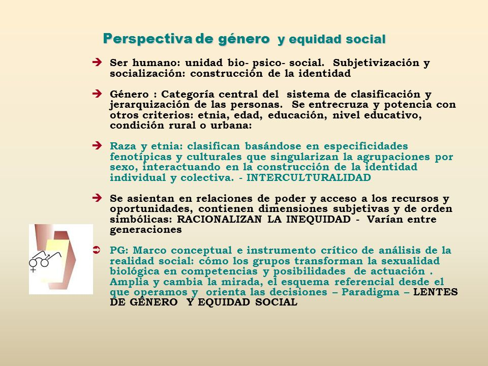 Perspectiva de género y equidad social