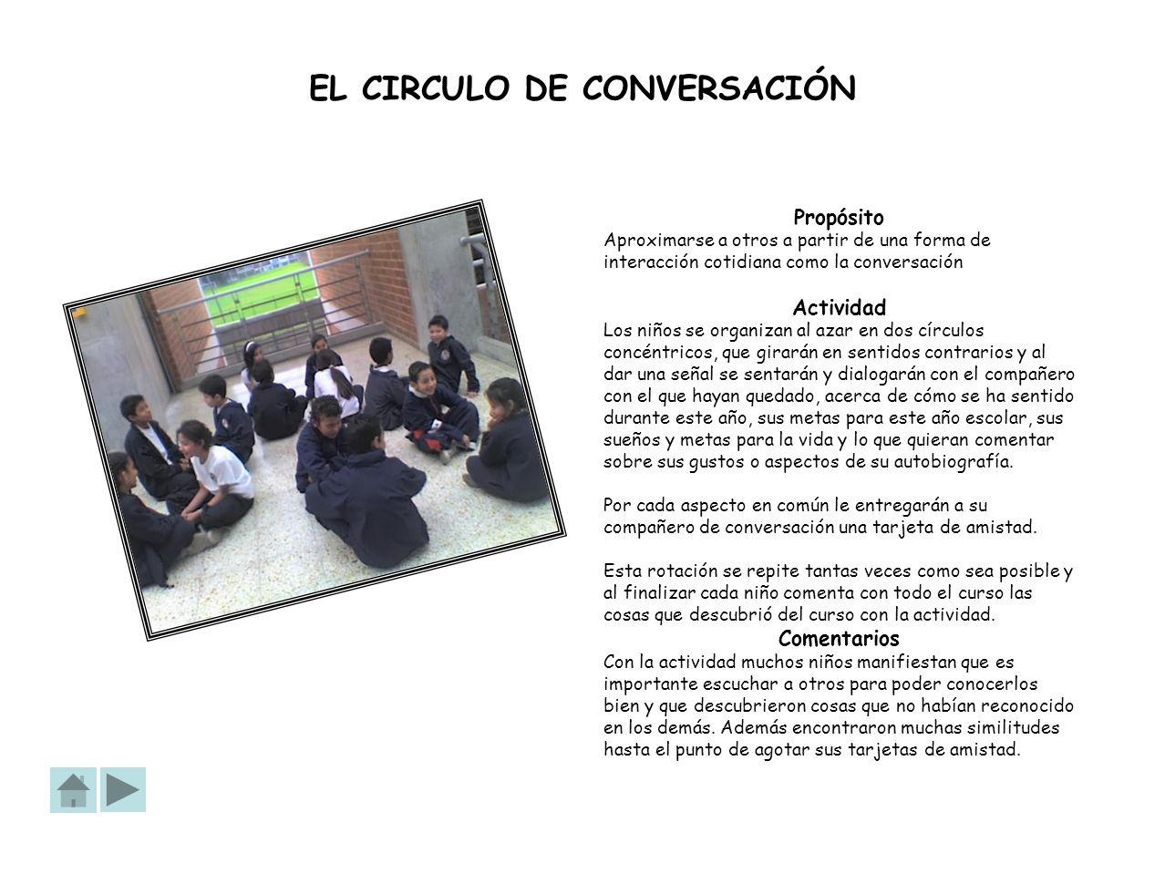 EL CIRCULO DE CONVERSACIÓN