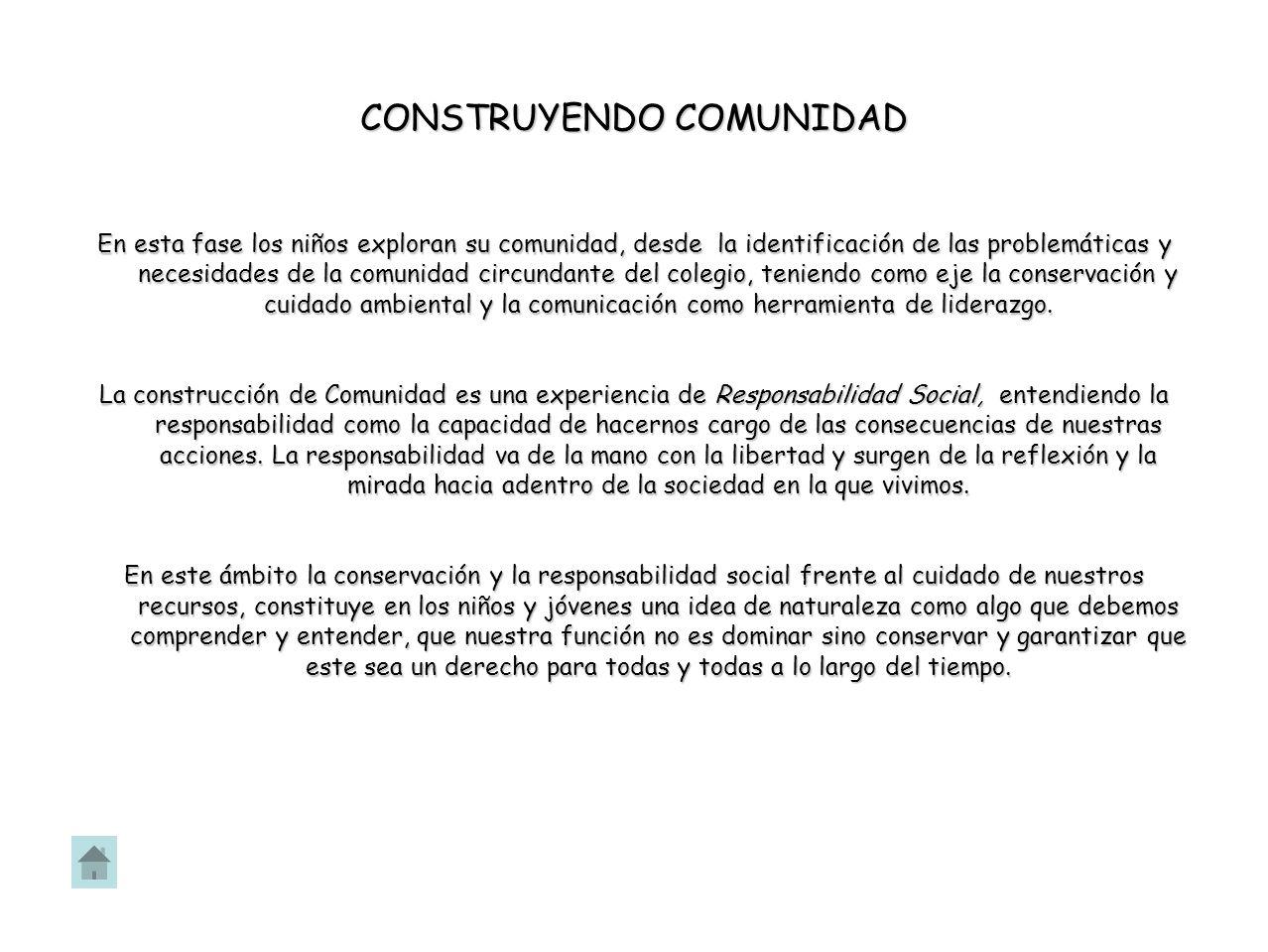 CONSTRUYENDO COMUNIDAD
