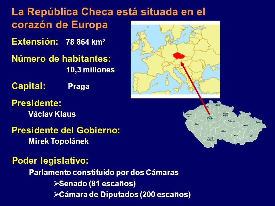 La República Checa está situada en el corazón de Europa