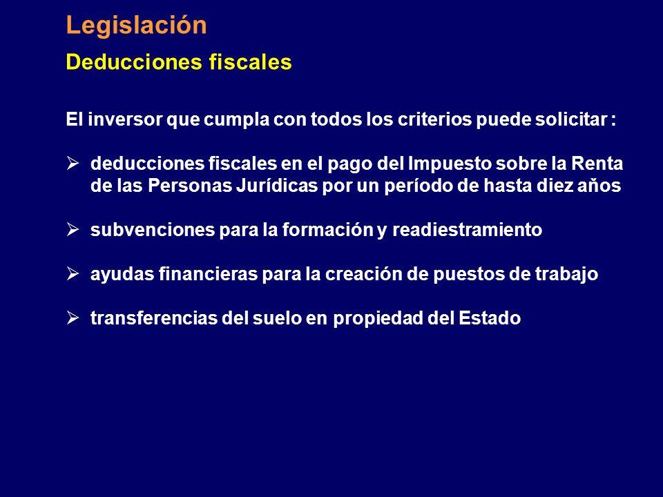 Legislación Deducciones fiscales