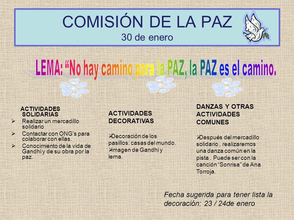 COMISIÓN DE LA PAZ 30 de enero