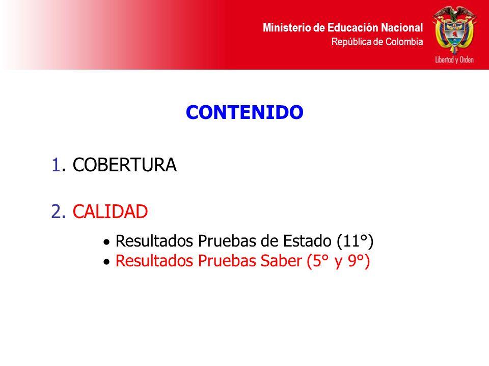CONTENIDO 1. COBERTURA 2. CALIDAD