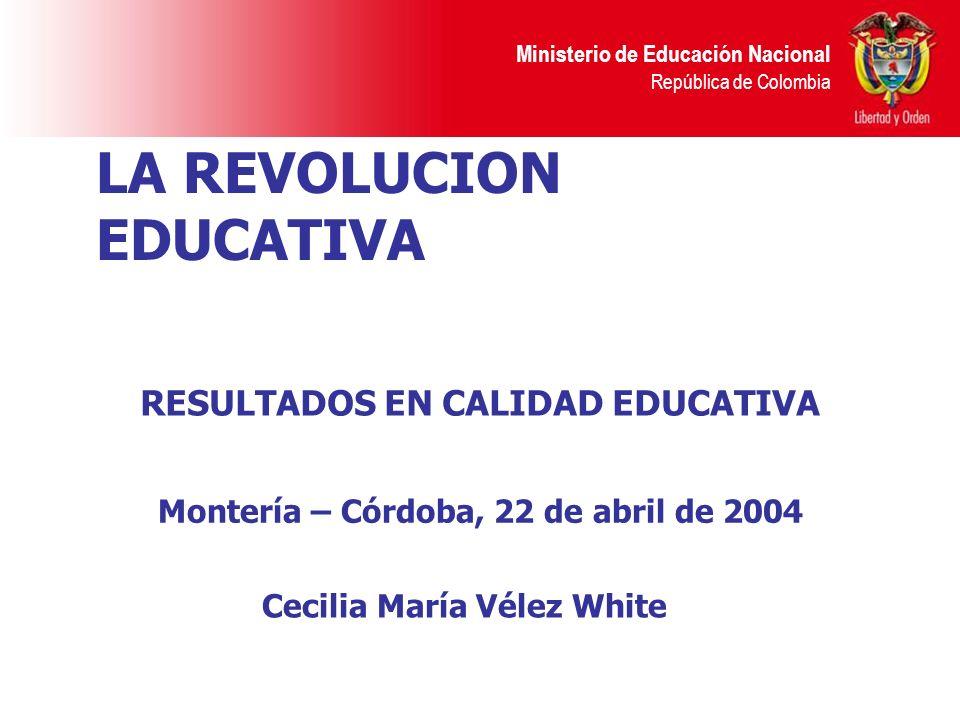LA REVOLUCION EDUCATIVA