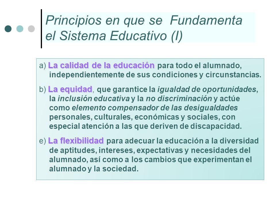 Principios en que se Fundamenta el Sistema Educativo (I)