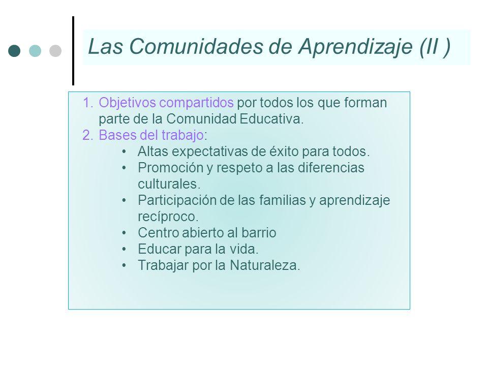 Las Comunidades de Aprendizaje (II )