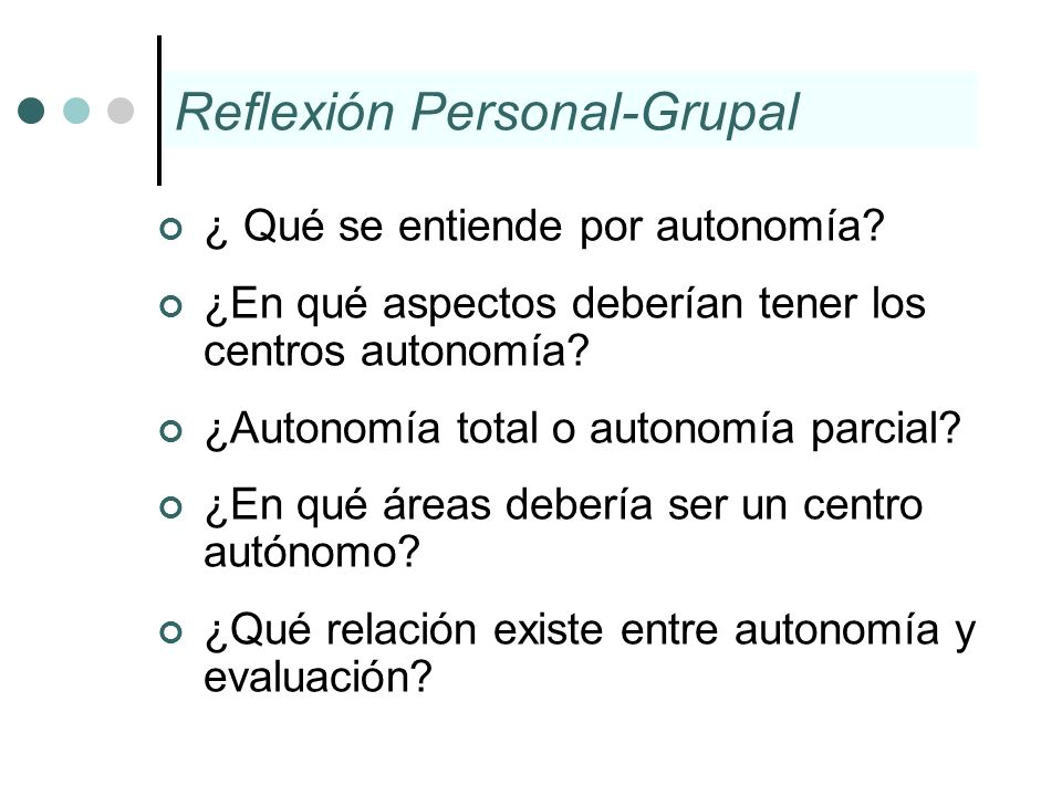Reflexión Personal-Grupal