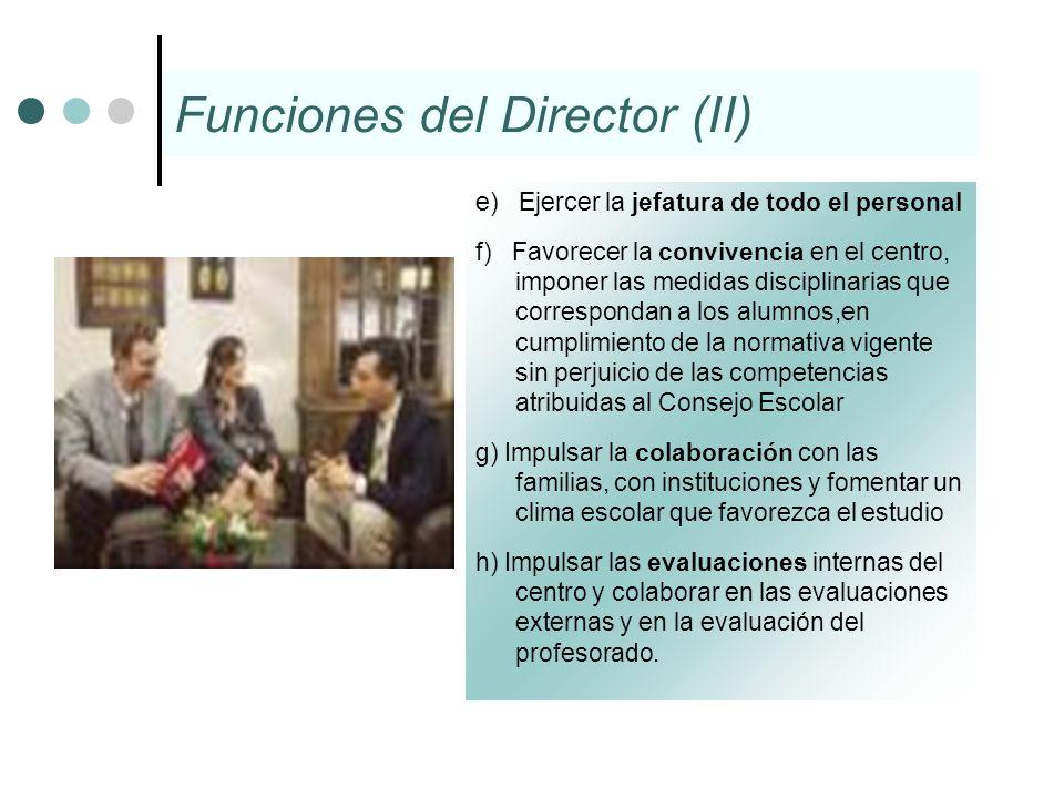 Funciones del Director (II)