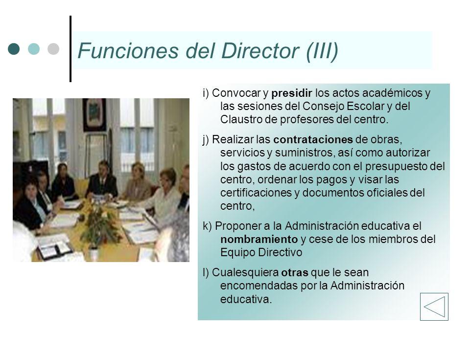 Funciones del Director (III)