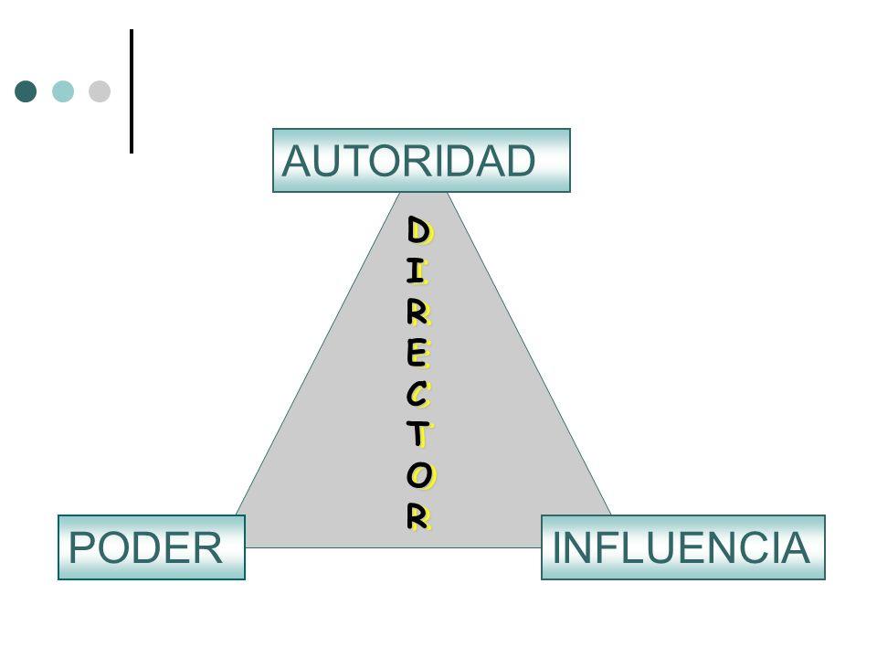 AUTORIDAD DIRECTOR DIRECTOR PODER INFLUENCIA