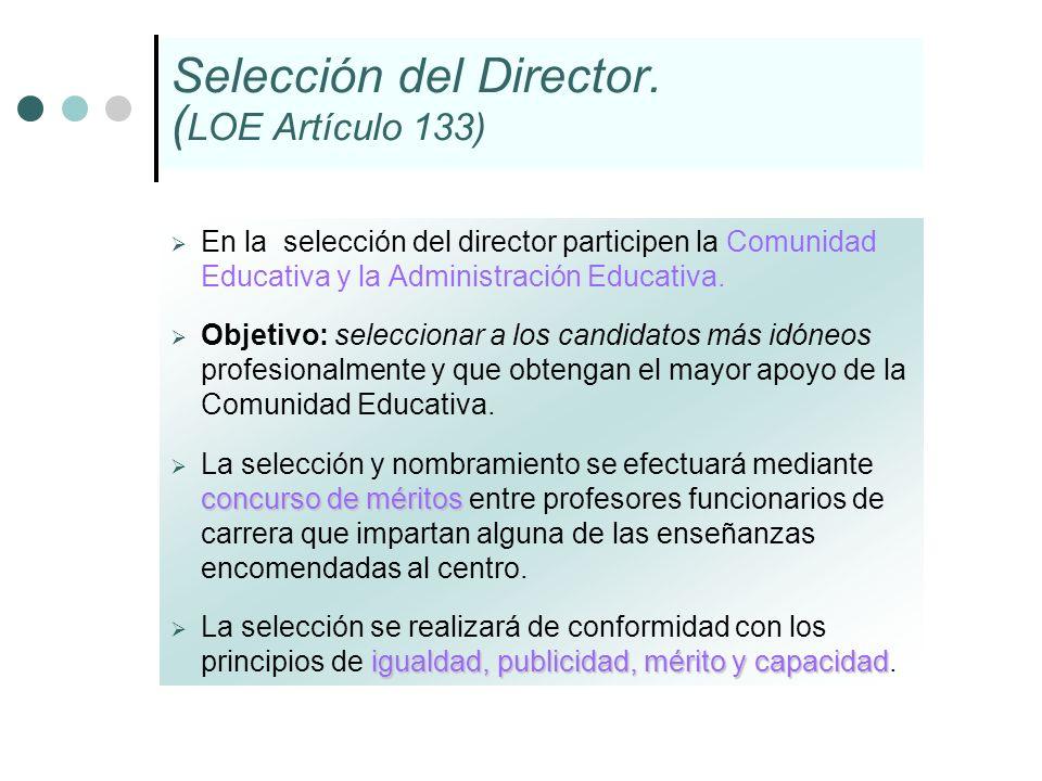 Selección del Director. (LOE Artículo 133)