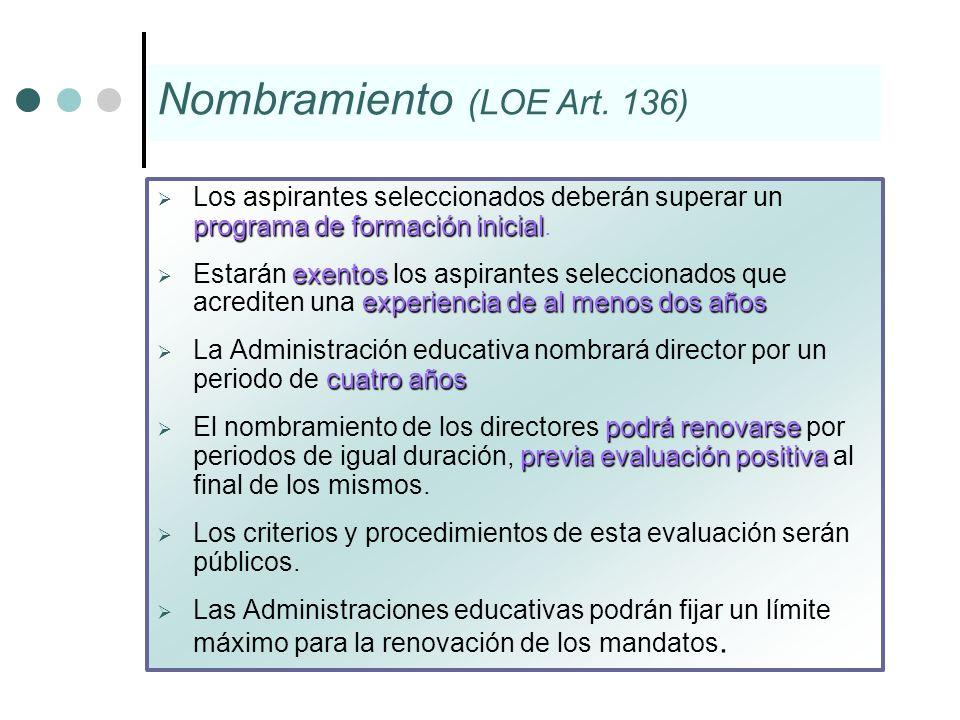 Nombramiento (LOE Art. 136)