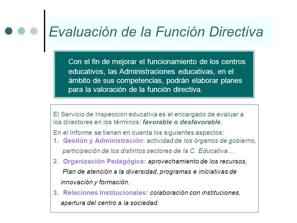 Evaluación de la Función Directiva