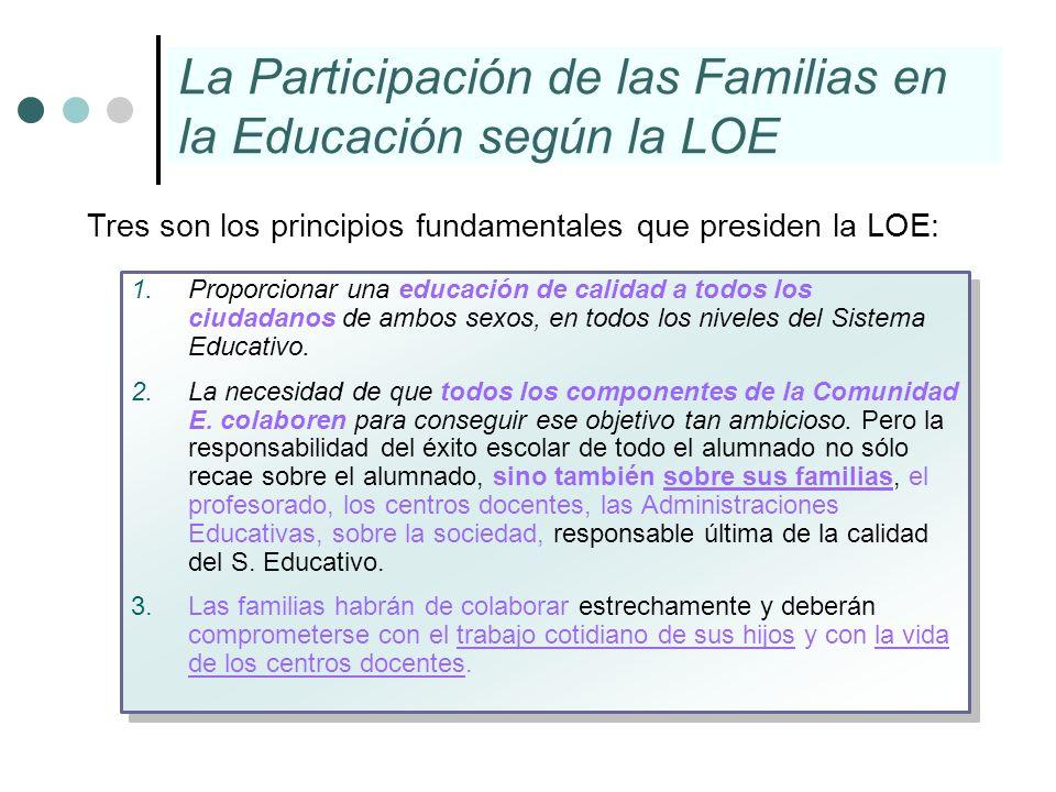 La Participación de las Familias en la Educación según la LOE