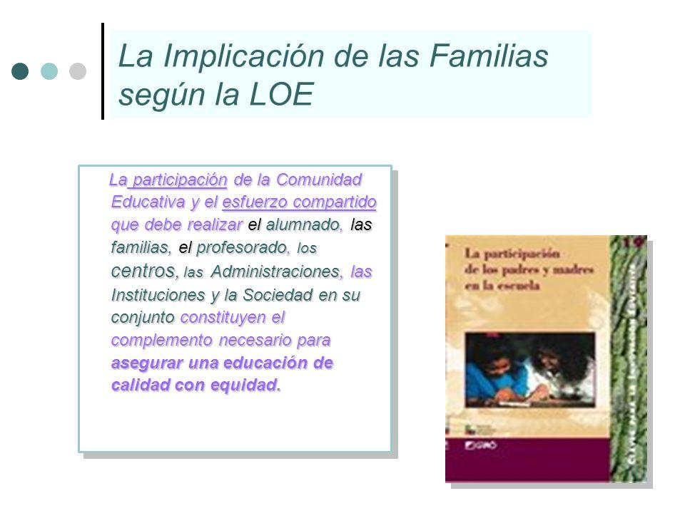 La Implicación de las Familias según la LOE