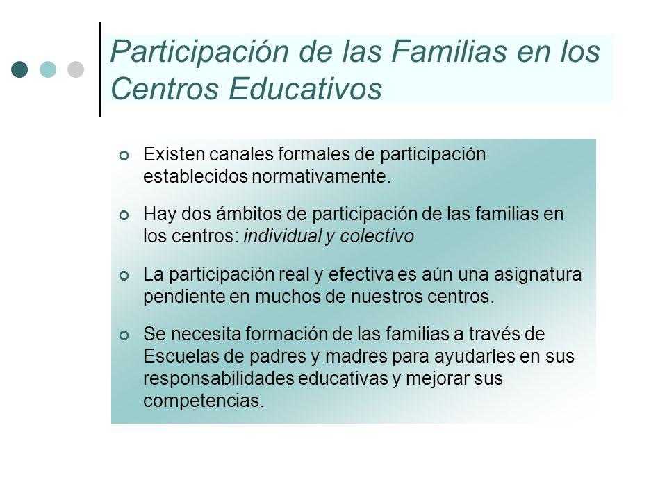 Participación de las Familias en los Centros Educativos