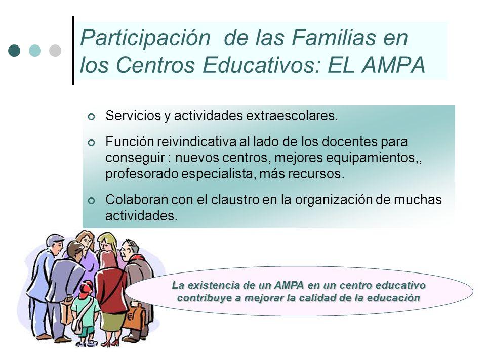 Participación de las Familias en los Centros Educativos: EL AMPA
