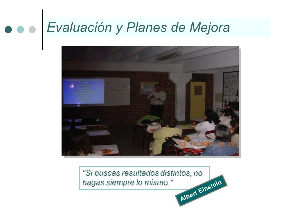 Evaluación y Planes de Mejora
