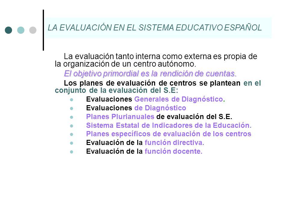 LA EVALUACIÓN EN EL SISTEMA EDUCATIVO ESPAÑOL