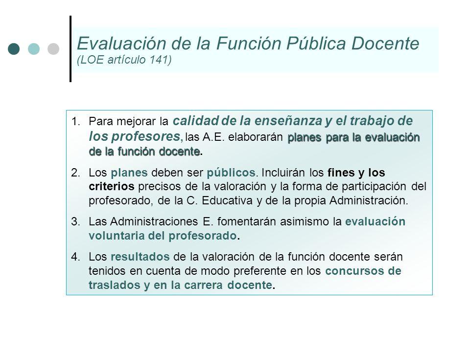Evaluación de la Función Pública Docente