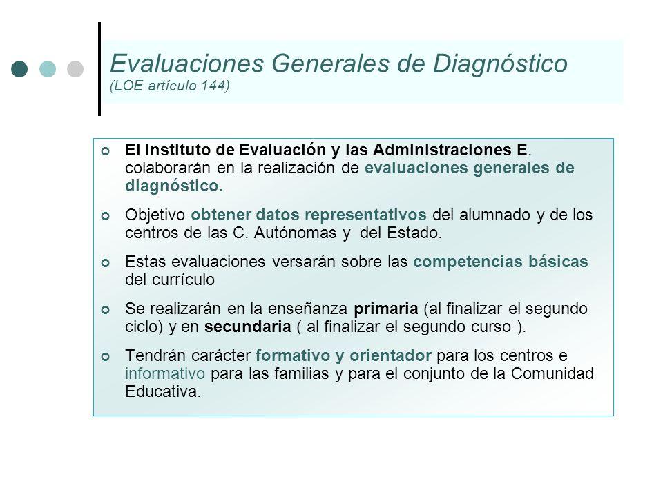 Evaluaciones Generales de Diagnóstico