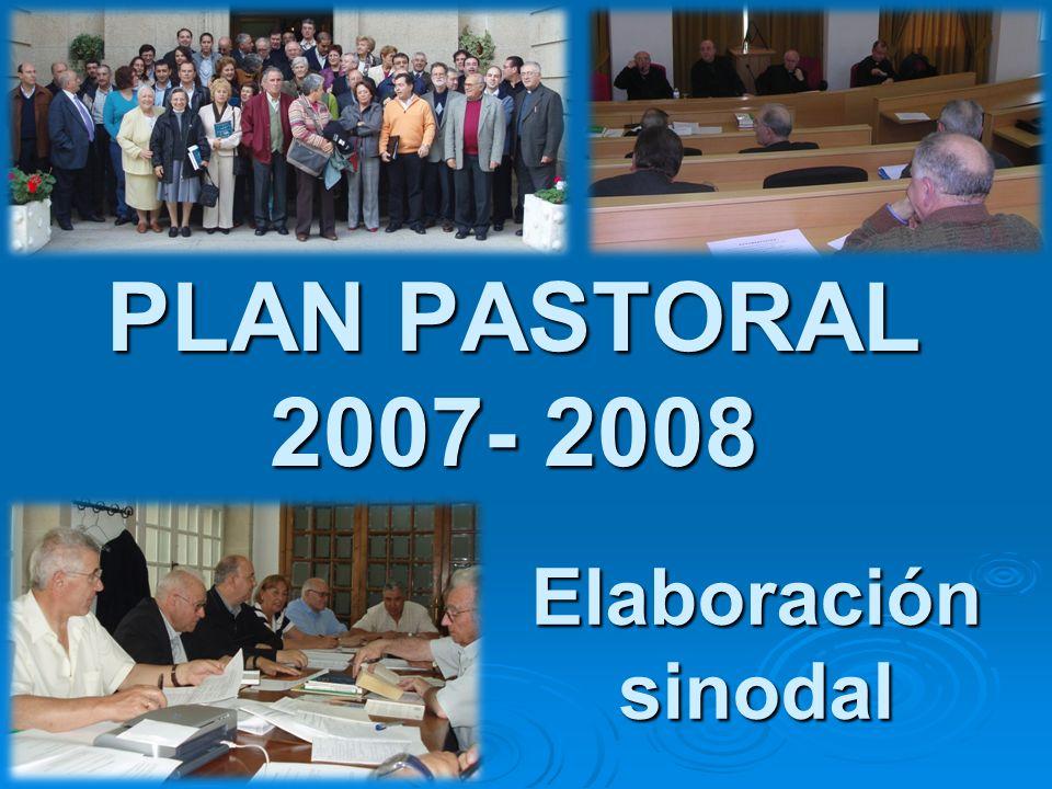 PLAN PASTORAL 2007- 2008 Elaboración sinodal