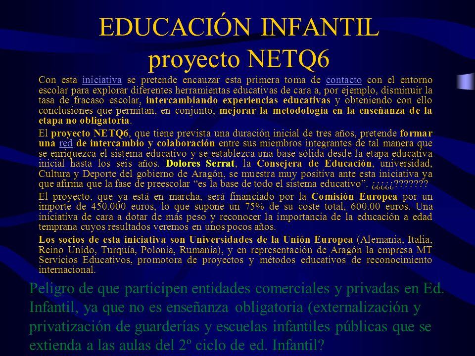EDUCACIÓN INFANTIL proyecto NETQ6