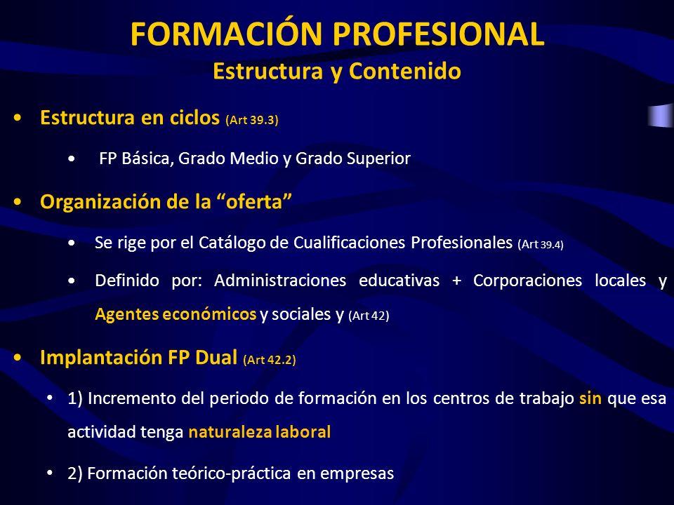 FORMACIÓN PROFESIONAL Estructura y Contenido