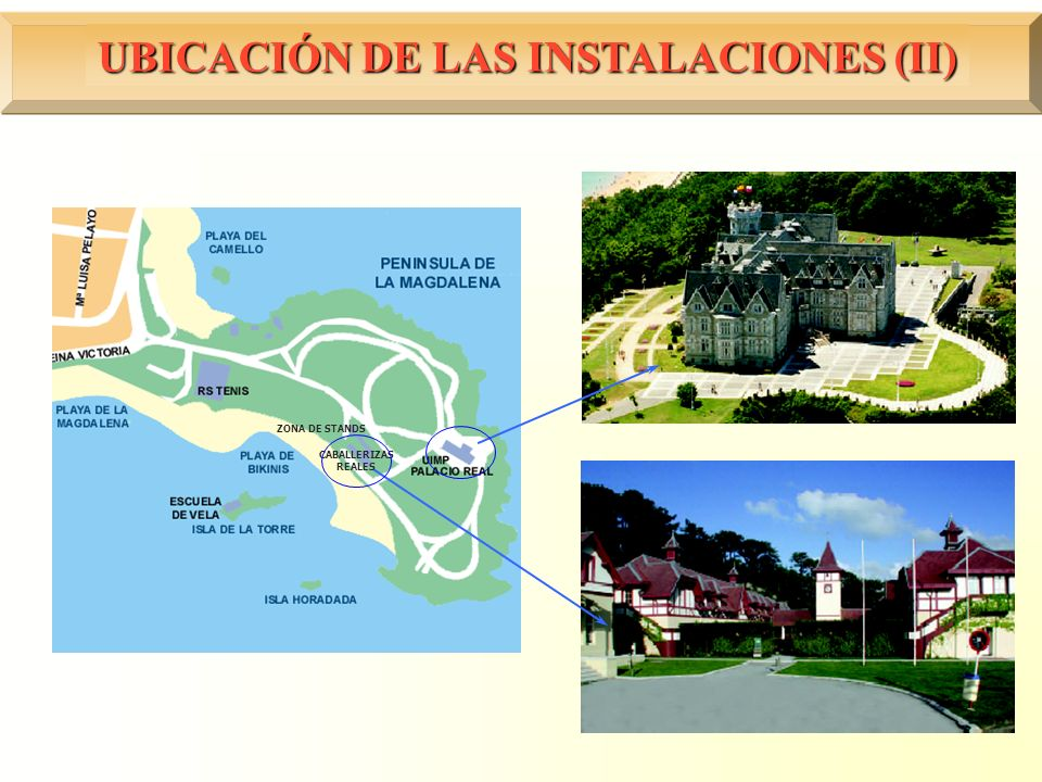 UBICACIÓN DE LAS INSTALACIONES (II)
