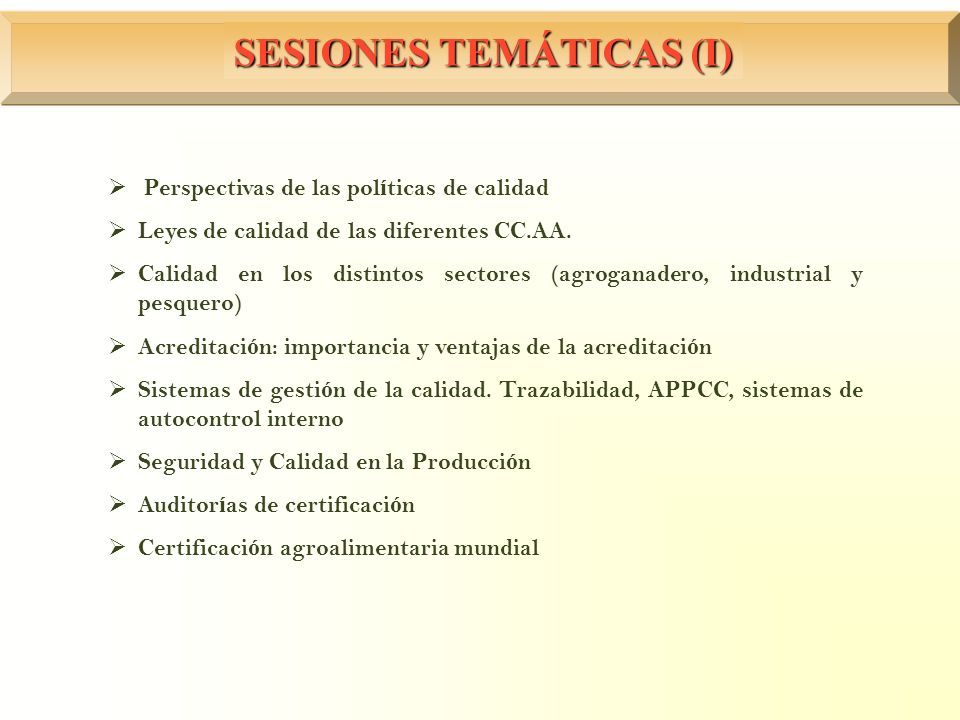 SESIONES TEMÁTICAS (I)