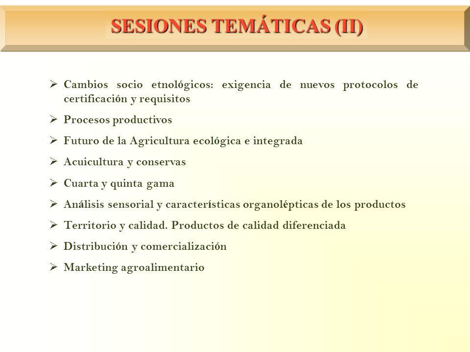 SESIONES TEMÁTICAS (II)