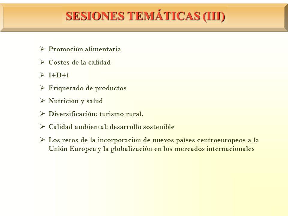 SESIONES TEMÁTICAS (III)