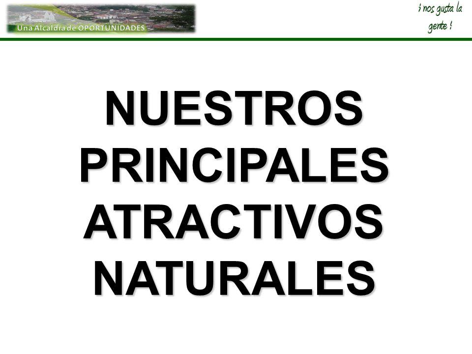 NUESTROS PRINCIPALES ATRACTIVOS NATURALES