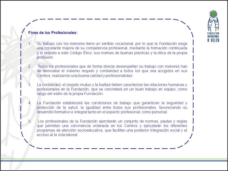 Fines de los Profesionales: