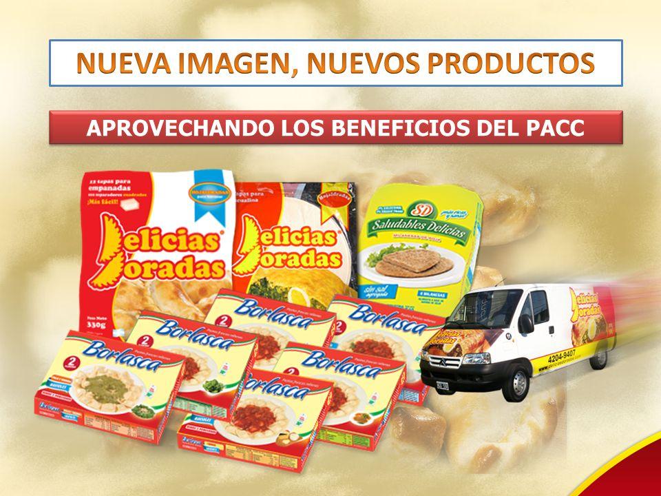 NUEVA IMAGEN, NUEVOS PRODUCTOS APROVECHANDO LOS BENEFICIOS DEL PACC
