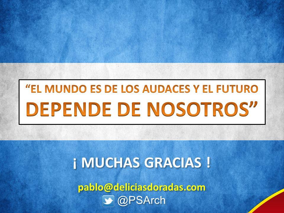 EL MUNDO ES DE LOS AUDACES Y EL FUTURO DEPENDE DE NOSOTROS